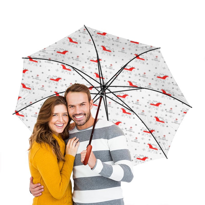 Зонт-трость двусторонний с деревянной ручкой Printio Мезенская роспись как продать участок земли в архангельской области