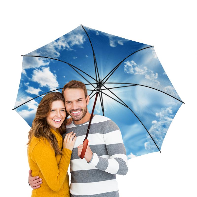 Зонт-трость двусторонний с деревянной ручкой Printio Небо и облака картленд барбара звездное небо гонконга