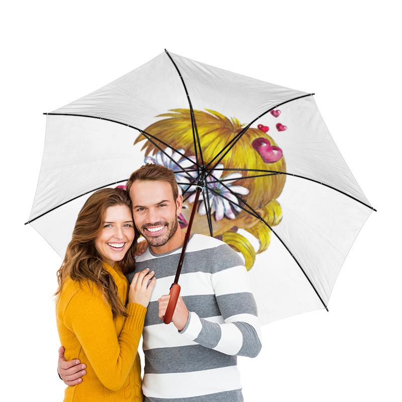 Зонт-трость двусторонний с деревянной ручкой Printio Без ума от цветов зонт трость с деревянной ручкой printio цветы орхидеи цветочная фантазия