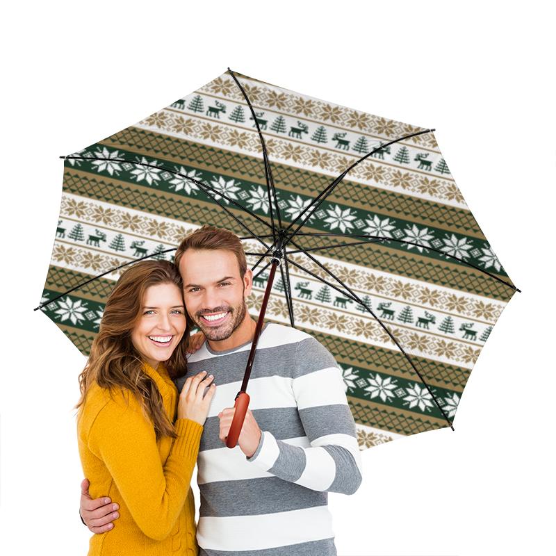 Зонт-трость двусторонний с деревянной ручкой Printio Скандинавский узор зонт трость двусторонний с деревянной ручкой printio голубой узор