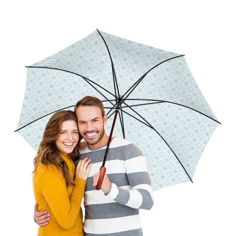 Зонт-трость двусторонний с деревянной ручкой Printio Голубой узор зонт трость двусторонний с деревянной ручкой printio голубой узор