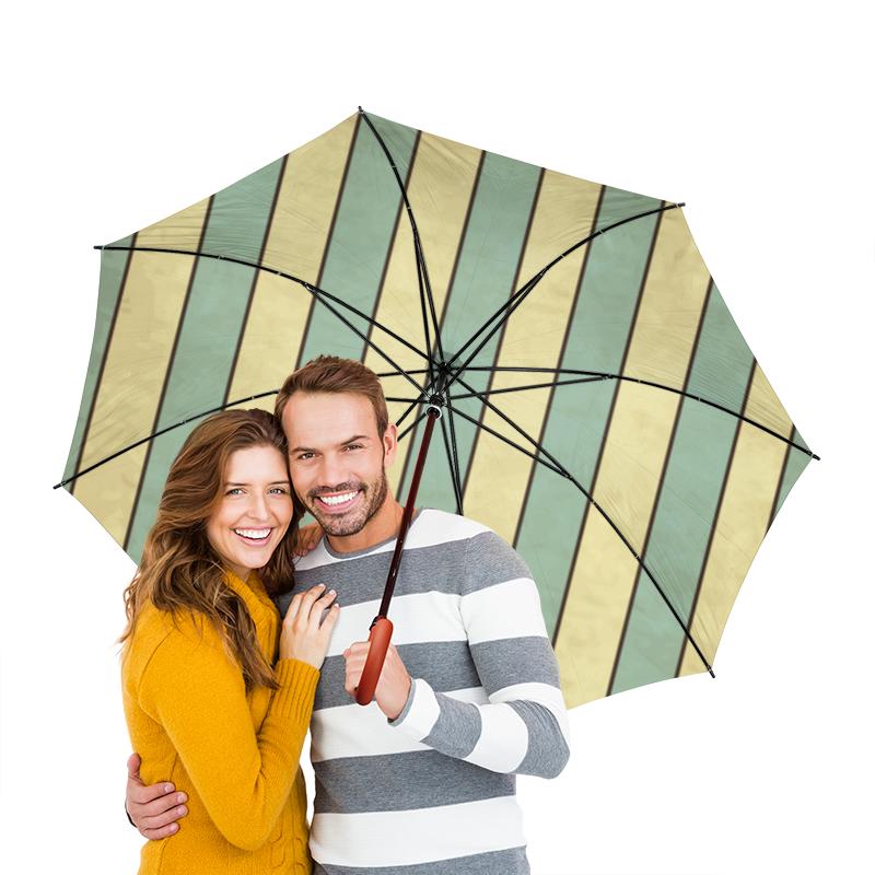 Зонт-трость двусторонний с деревянной ручкой Printio Полосатый зонт трость двусторонний с деревянной ручкой printio райский сад