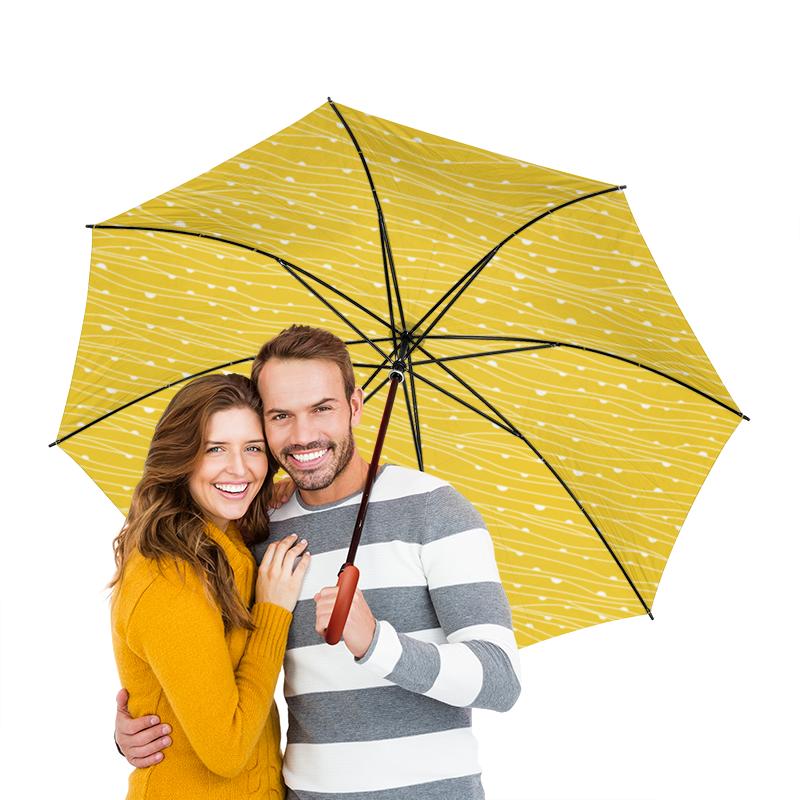 Зонт-трость двусторонний с деревянной ручкой Printio Жёлтая абстракция сок фрутоняня яблоко с 4 мес 200 мл