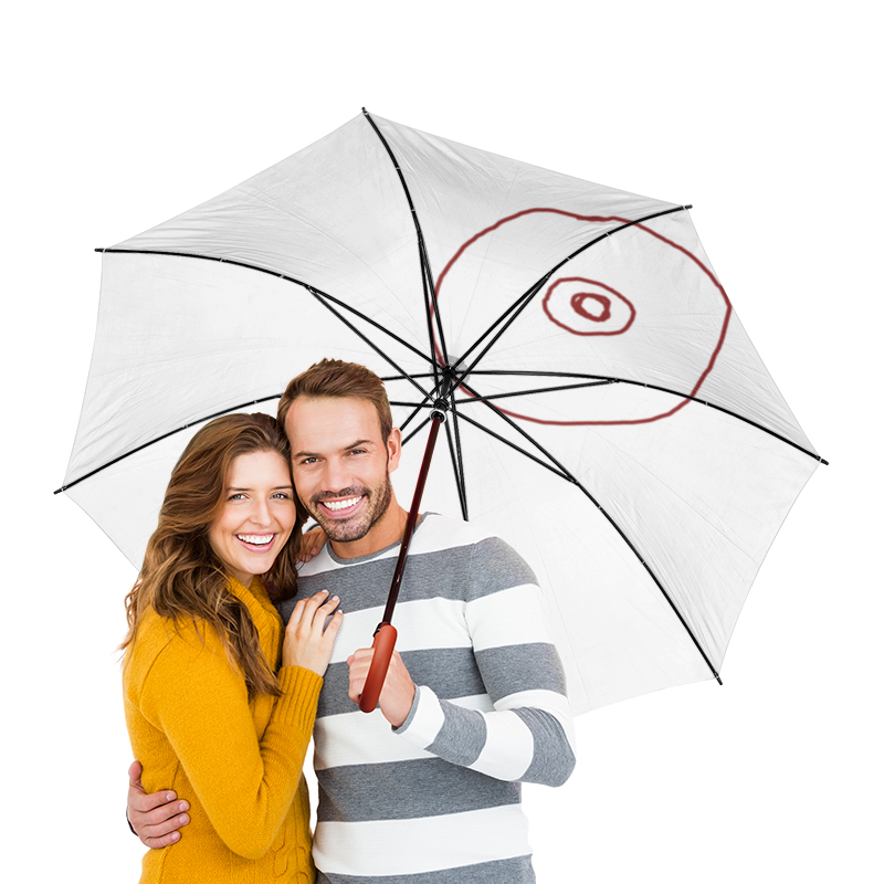 Зонт-трость двусторонний с деревянной ручкой Printio Cd или титя холст 30x30 printio cd или титя