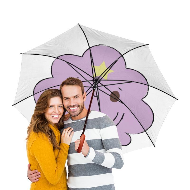 Зонт-трость двусторонний с деревянной ручкой Printio Пупырка зонт трость двусторонний с деревянной ручкой printio райский сад