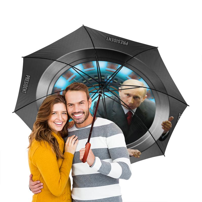 Зонт-трость двусторонний с деревянной ручкой Printio President перчатки боксерские green hill abid