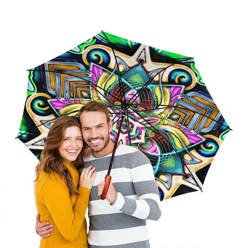 Зонт-трость двусторонний с деревянной ручкой Printio Mandala hd 4 зонт трость двусторонний с деревянной ручкой printio mandala hd2