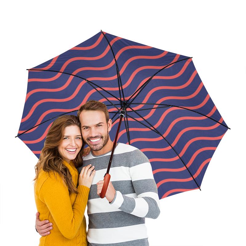Зонт-трость двусторонний с деревянной ручкой Printio Волнистый зонт трость с деревянной ручкой printio геометрический орнамент