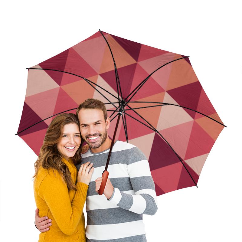 Зонт-трость двусторонний с деревянной ручкой Printio Треугольная абстракция зонт трость двусторонний с деревянной ручкой printio голубой узор