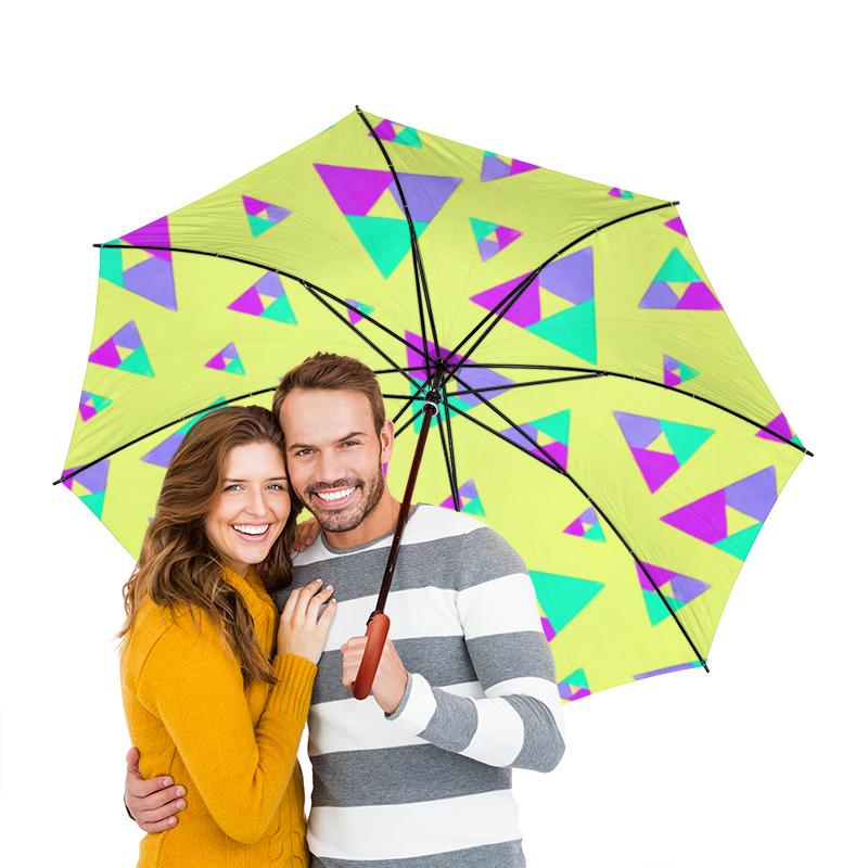 Зонт-трость двусторонний с деревянной ручкой Printio Треугольник 1 зонт трость двусторонний с деревянной ручкой printio сланцы