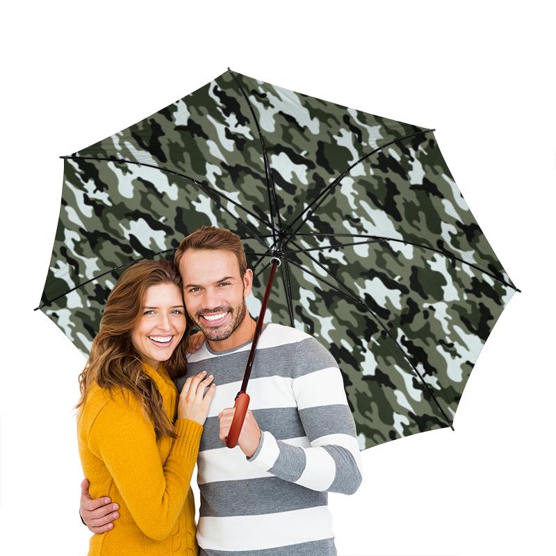Зонт-трость двусторонний с деревянной ручкой Printio Камуфляж 3 зонт трость двусторонний с деревянной ручкой printio сланцы