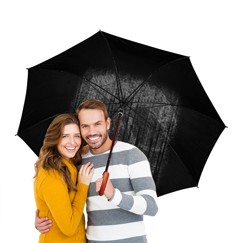 Зонт-трость двусторонний с деревянной ручкой Printio Голограмма череп зонт трость двусторонний с деревянной ручкой printio череп