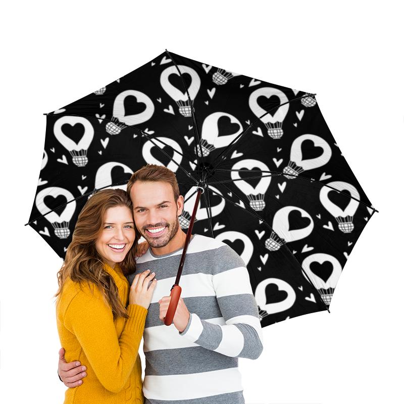 Фото - Зонт-трость двусторонний с деревянной ручкой Printio День св. валентина зонт трость двусторонний с деревянной ручкой printio сандал