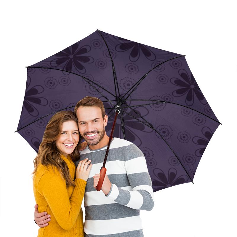 Зонт-трость двусторонний с деревянной ручкой Printio Цветочный зонт трость двусторонний с деревянной ручкой printio голубой узор