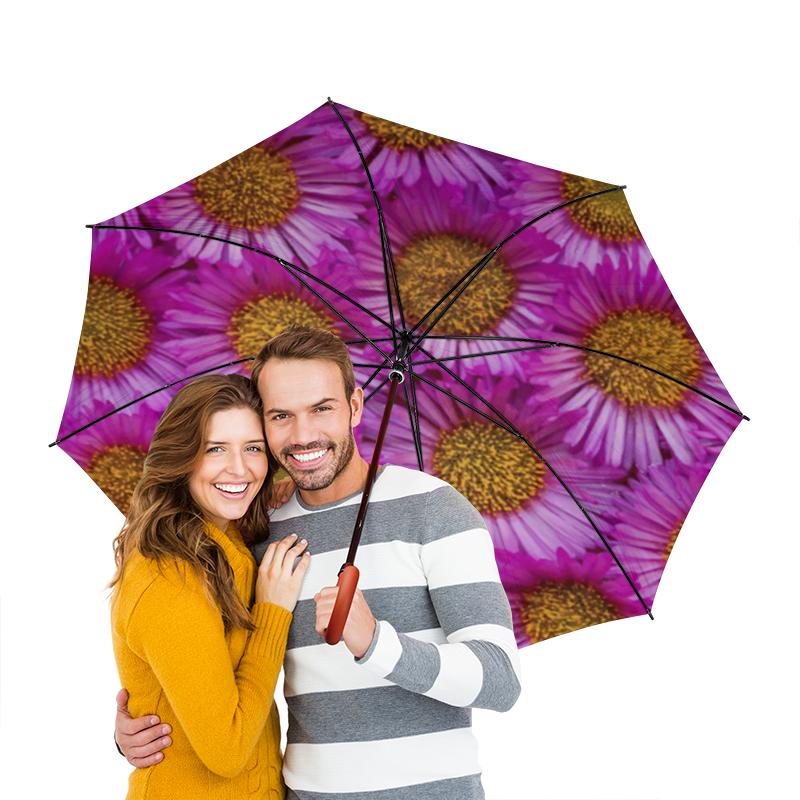 Зонт-трость двусторонний с деревянной ручкой Printio Астры колготки астры белые п э