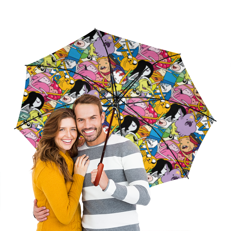 Printio Время приключений зонт трость двусторонний с деревянной ручкой printio джейк пёс время приключений