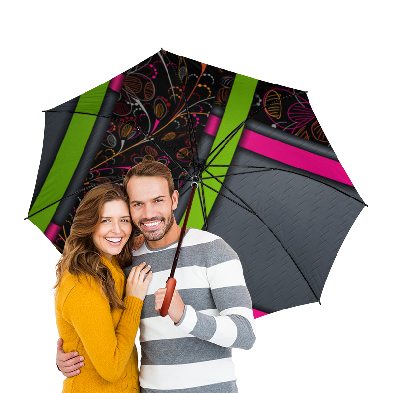 Зонт-трость двусторонний с деревянной ручкой Printio Абстракция зонт трость двусторонний с деревянной ручкой printio волк в лесу