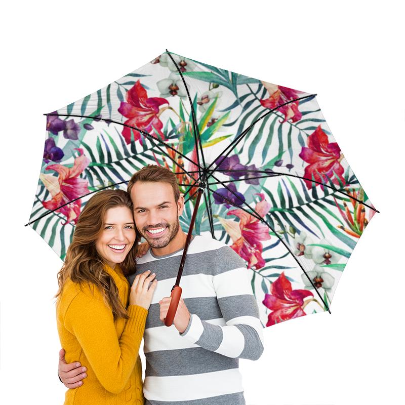 Зонт-трость двусторонний с деревянной ручкой Printio Тропические цветы ноутбук dell inspiron 3567 3567 7698 3567 7698