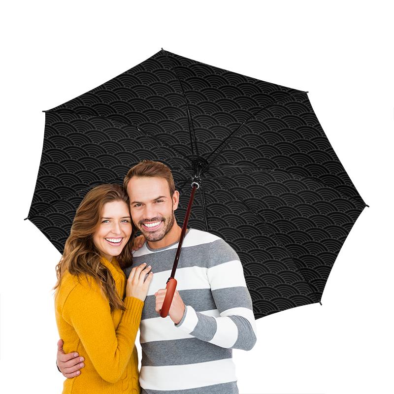 Зонт-трость двусторонний с деревянной ручкой Printio Волнистый зонт трость двусторонний с деревянной ручкой printio райский сад