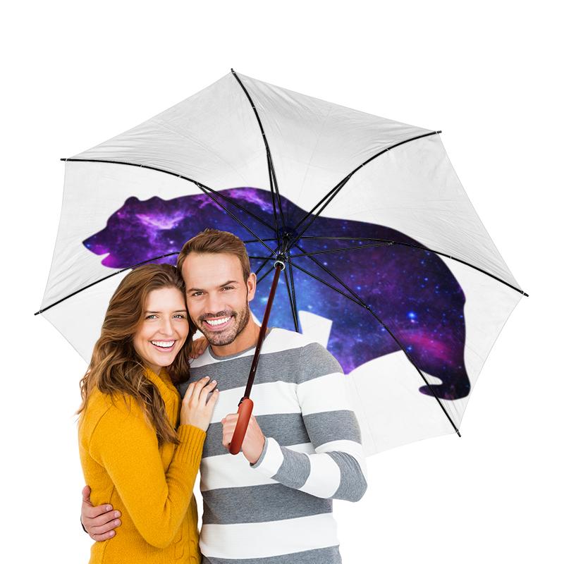 Зонт-трость двусторонний с деревянной ручкой Printio Space animals молочный стиль творог 9% 230 г