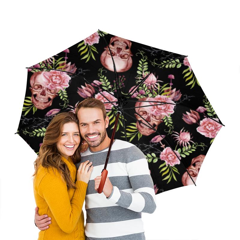 Зонт-трость двусторонний с деревянной ручкой Printio Череп зонт трость двусторонний с деревянной ручкой printio футбол