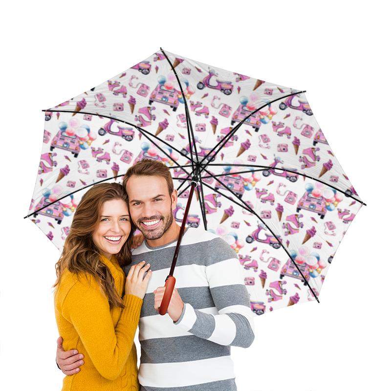 Зонт-трость двусторонний с деревянной ручкой Printio Pinup box зонт трость с деревянной ручкой printio кошки розовое черное и желтое