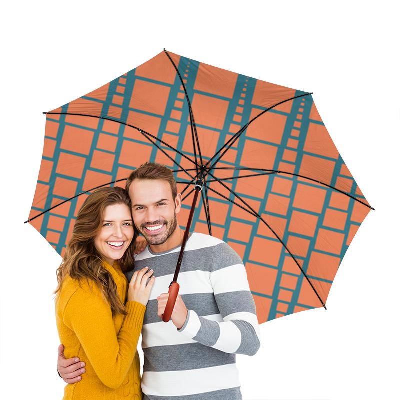 Зонт-трость двусторонний с деревянной ручкой Printio Квадраты шоколадка 35х35 printio квадраты