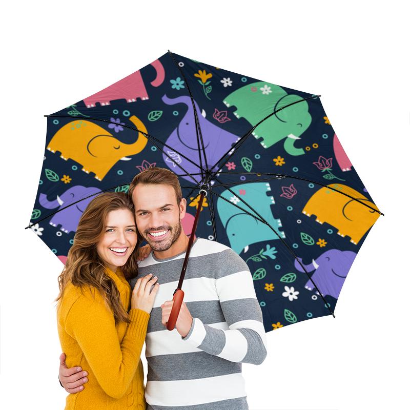 Зонт-трость двусторонний с деревянной ручкой Printio Слоники зонт трость двусторонний с деревянной ручкой printio райский сад