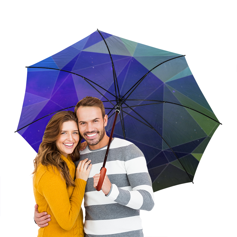 Зонт-трость двусторонний с деревянной ручкой Printio Космический треугольник зонт трость с деревянной ручкой printio закат в ялте айвазовский