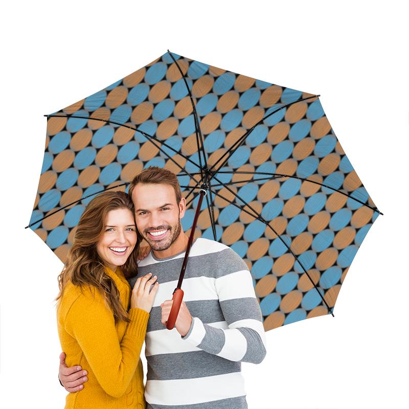 Зонт-трость двусторонний с деревянной ручкой Printio Овальный узор зонт трость двусторонний с деревянной ручкой printio райский сад