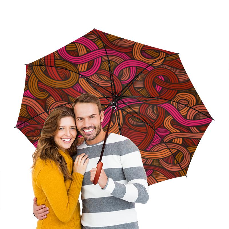 Зонт-трость двусторонний с деревянной ручкой Printio Абстрактный зонт трость двусторонний с деревянной ручкой printio голубой узор