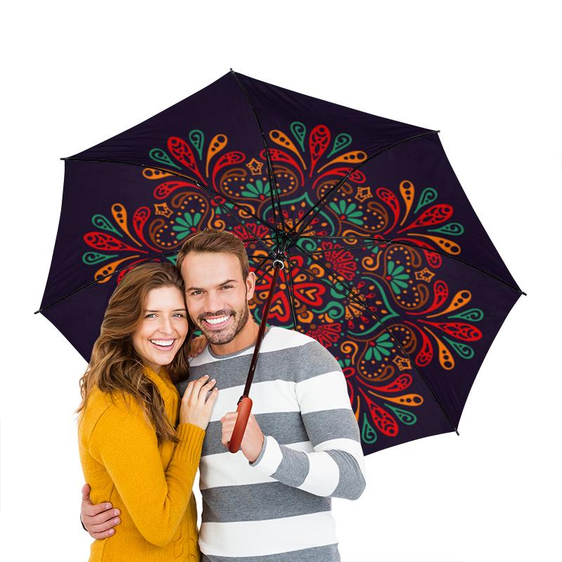 Зонт-трость двусторонний с деревянной ручкой Printio Кружевной зонт трость двусторонний с деревянной ручкой printio голубой узор
