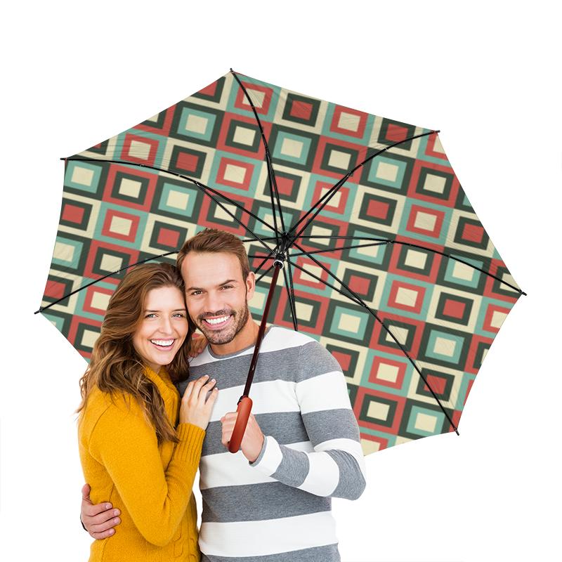 Зонт-трость двусторонний с деревянной ручкой Printio Разноцветная абстракция зонт трость двусторонний с деревянной ручкой printio голубой узор
