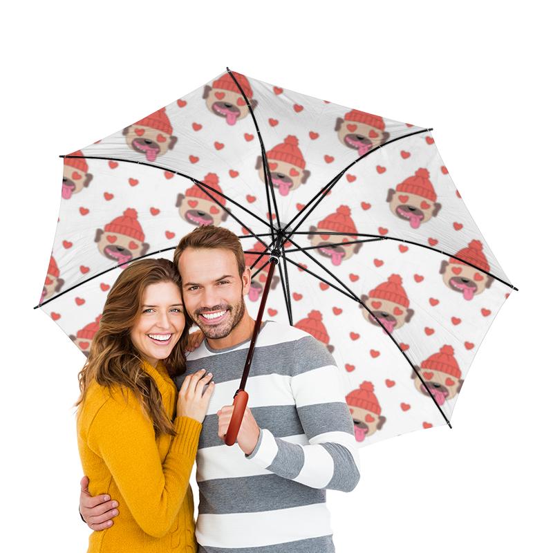 Зонт-трость двусторонний с деревянной ручкой Printio Собака printio зонт трость двусторонний с деревянной ручкой