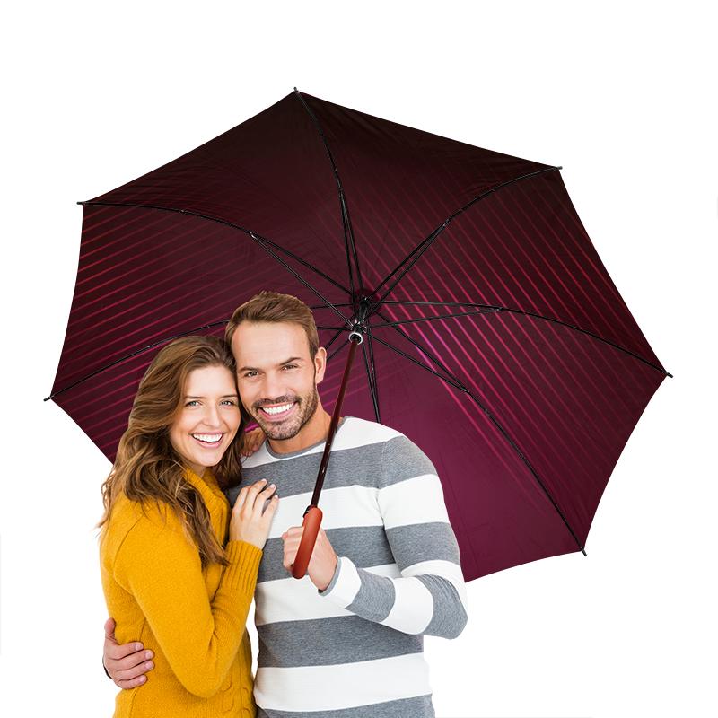 Зонт-трость двусторонний с деревянной ручкой Printio Бардовый зонт трость двусторонний с деревянной ручкой printio райский сад