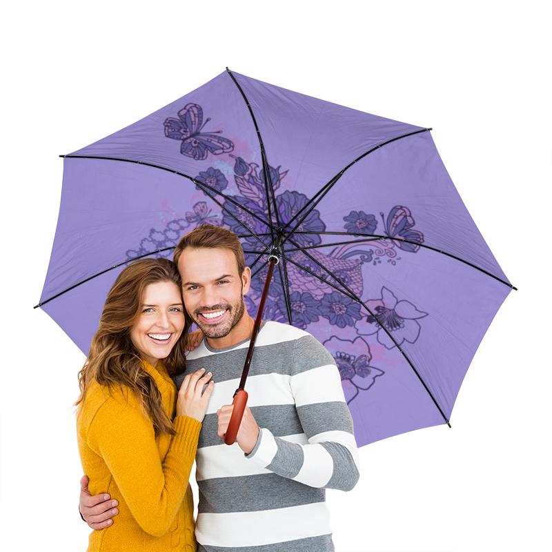 Зонт-трость двусторонний с деревянной ручкой Printio Сова в цветах чехол для ноутбука 12 printio сова в цветах