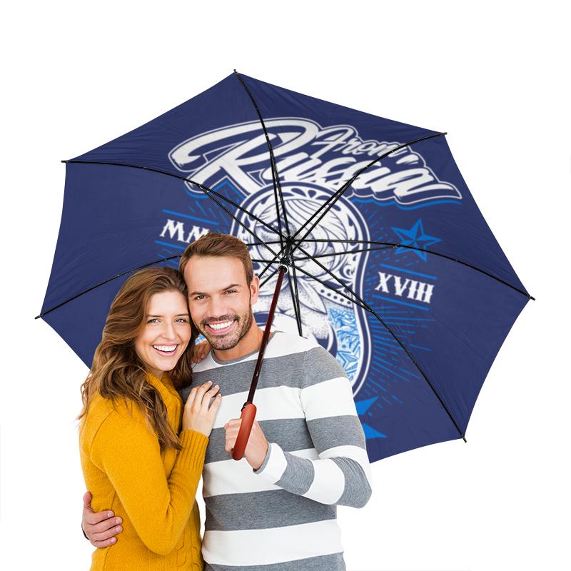 Зонт-трость двусторонний с деревянной ручкой Printio Футбол зонт трость двусторонний с деревянной ручкой printio футбол