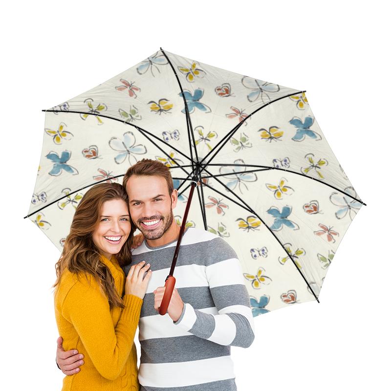 Зонт-трость двусторонний с деревянной ручкой Printio Бабочки зонт трость двусторонний с деревянной ручкой printio бабочки
