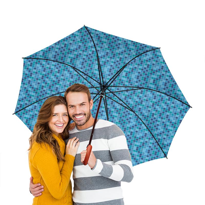 Зонт-трость двусторонний с деревянной ручкой Printio Мозаичный мозаичный декор fap pura celeste mosaico 30 5x30 5