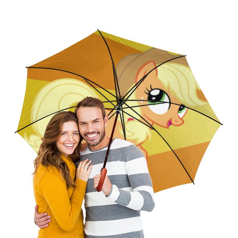 Зонт-трость двусторонний с деревянной ручкой Printio Applejack color line