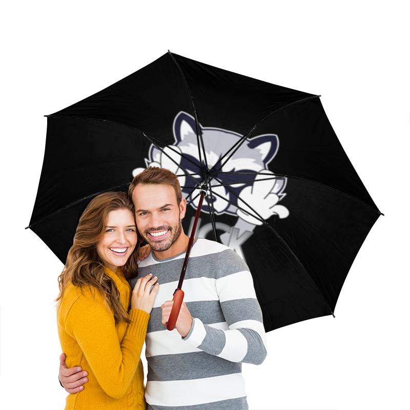 Зонт-трость двусторонний с деревянной ручкой Printio Енотик зонт трость с деревянной ручкой printio енотик