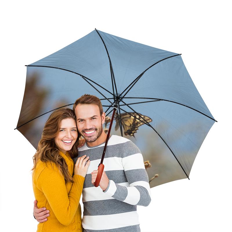 Зонт-трость двусторонний с деревянной ручкой Printio Бабочка махаон махаон сумка кросс боди трамвай махаон