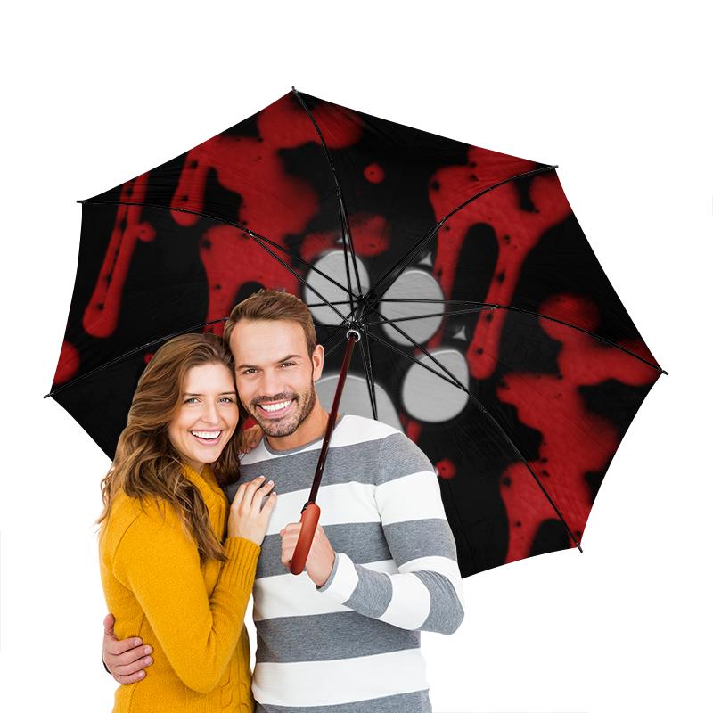 Зонт-трость двусторонний с деревянной ручкой Printio Лапа волка зонт трость с деревянной ручкой printio лапа волка