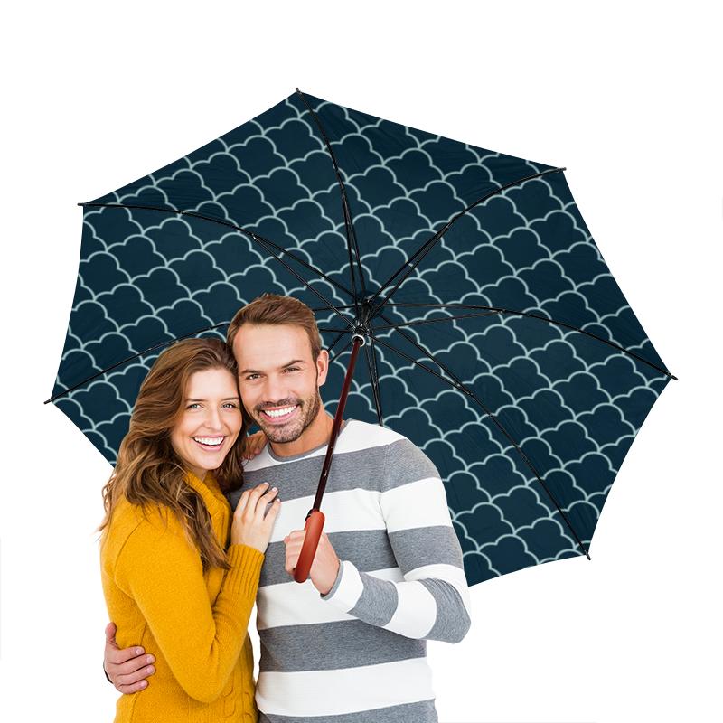 Зонт-трость двусторонний с деревянной ручкой Printio Абстрактный сумка printio радужный енот