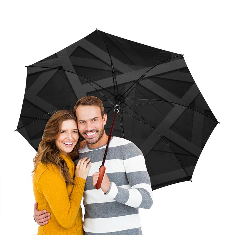 Зонт-трость двусторонний с деревянной ручкой Printio Квадраты зонт трость двусторонний с деревянной ручкой printio райский сад