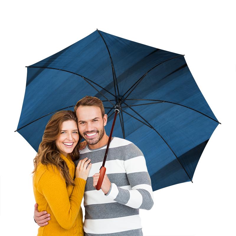 Зонт-трость двусторонний с деревянной ручкой Printio Синяя абстракция зонт трость двусторонний с деревянной ручкой printio голубой узор