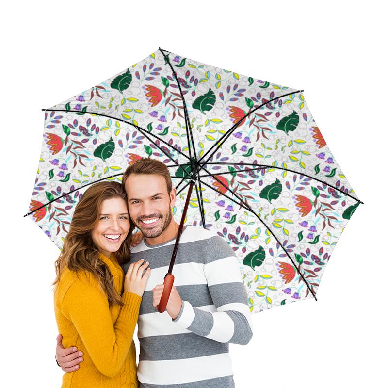 Зонт-трость двусторонний с деревянной ручкой Printio Цветы зонт трость двусторонний с деревянной ручкой printio голубой узор