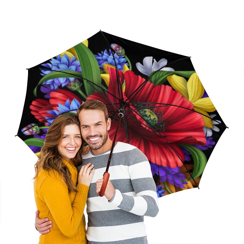 Зонт-трость двусторонний с деревянной ручкой Printio Цветы зонт трость с деревянной ручкой printio цветы