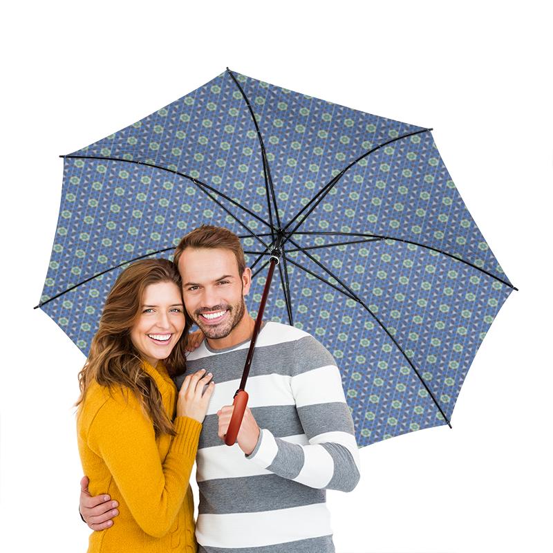 Зонт-трость двусторонний с деревянной ручкой Printio Геометрический орнамент printio зонт трость двусторонний с деревянной ручкой