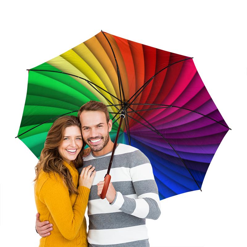 Зонт-трость двусторонний с деревянной ручкой Printio Палитра зонт трость двусторонний с деревянной ручкой printio голубой узор